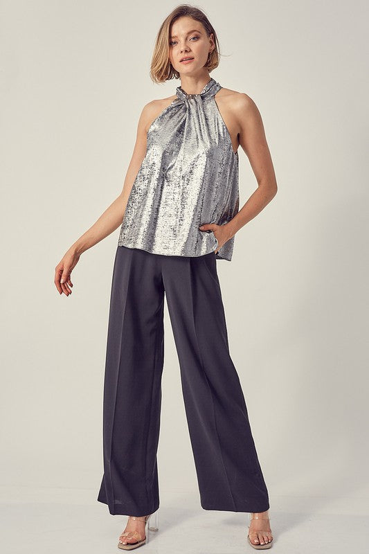 TIME TO SHINE METALLIC TOP