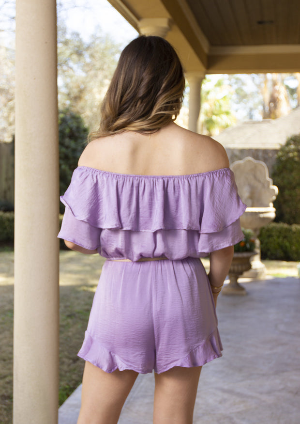 SWEET FEELINGS BLOUSE - LILAC