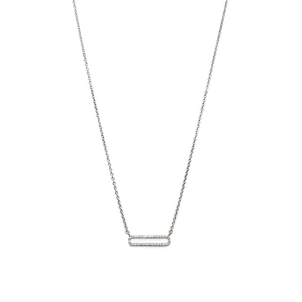 DAINTY CZ LINK NECKLACE - GOLD & SILVER
