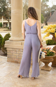 ODE TO ROMANCE PLEATED JUMPSUIT