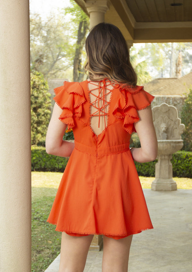 ALL THAT WONDER CORAL ROMPER