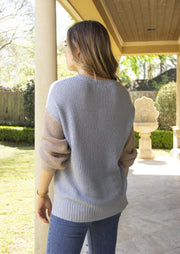MELLOW THOUGHTS COLOR BLOCK SWEATER