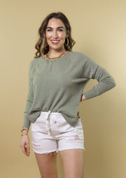 THROUGH THE SEASONS SWEATER - SAGE