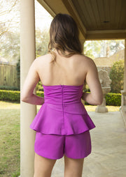 QUEEN OF THE CITY ROMPER - ORCHID