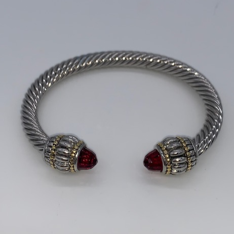 TWISTED CABLE BRACELET - RUBY