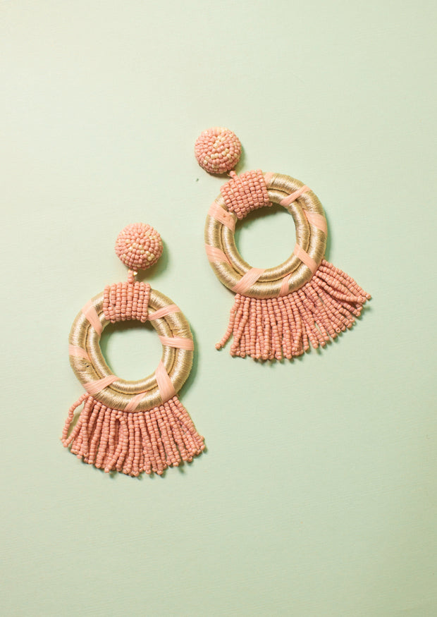 TWIST THE RULES TASSEL EARRINGS
