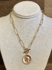 ERICA COIN NECKLACE - GOLD OR SILVER