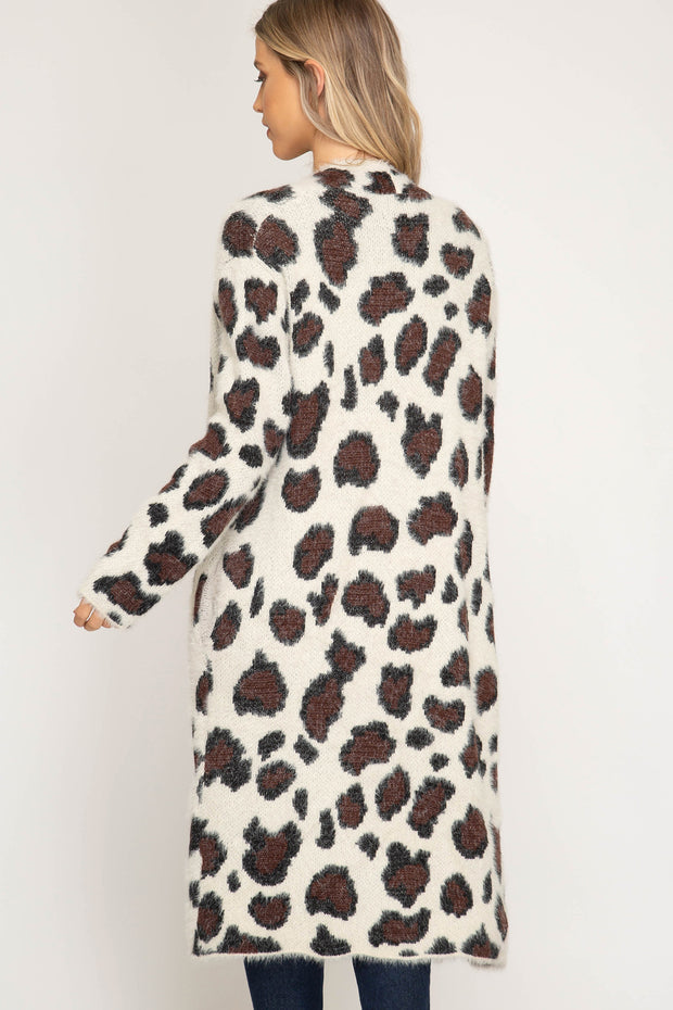 ROARING GOOD TIME LEOPARD CARDIGAN - CREAM