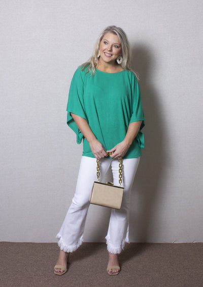 GREEN WITH ENVY KIMONO TOP
