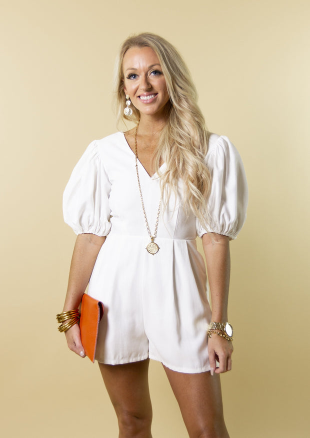 CHARM YOUR WAY ROMPER - OFF WHITE