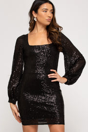 BLING BABE DRESS - BLACK