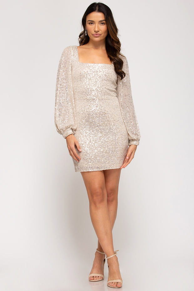 BLING BABE DRESS - CHAMPAGNE
