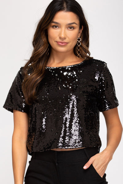 GLAMOUR GIRL CROP TOP
