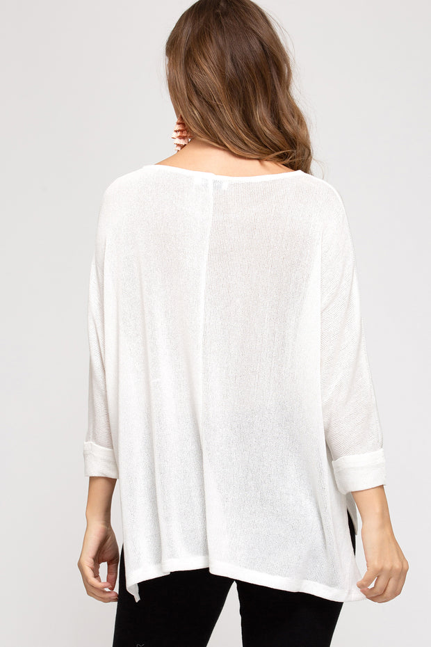 BREEZY GOING BLOUSE - BLACK OR WHITE