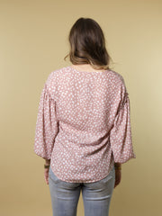 BLUSH FOR FUN PRINT BLOUSE