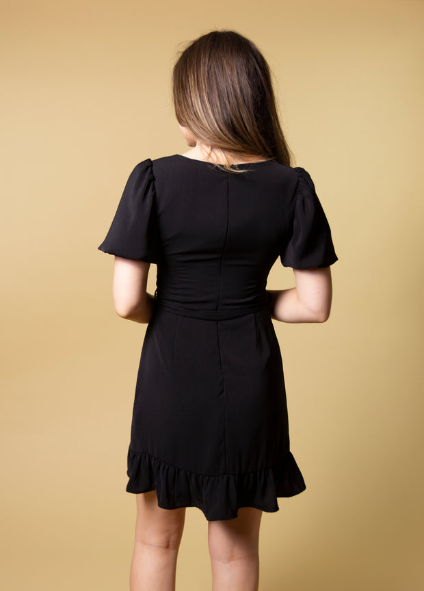 ANGEL IN DISGUISE BUBBLE SLEEVE DRESS