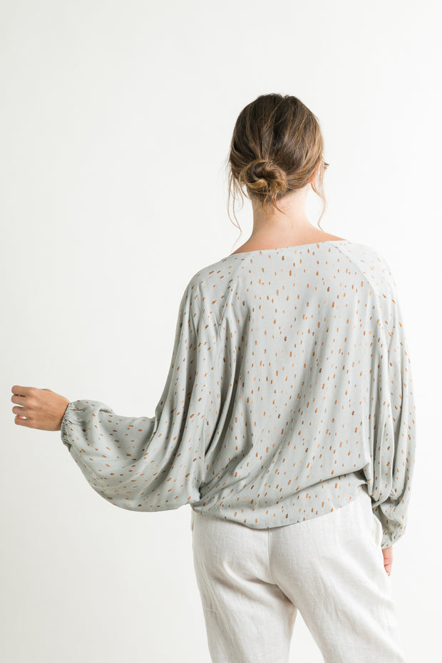 MONET WRAP BLOUSE