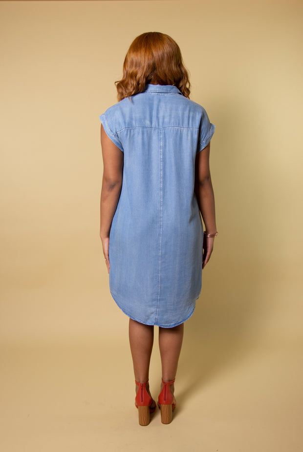 SWEET AND SUNNY DENIM SHIRT DRESS