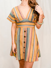 SUNBAKED STRIPE DRESS