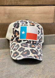 LEOPARD TEXAS FLAG CAP