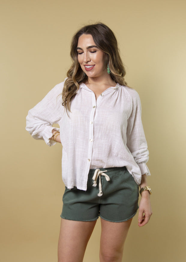 NO PROBLEM LINEN BLOUSE - MISC