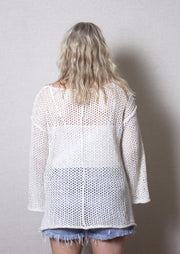 GOOD KARMA CROCHET SWEATER