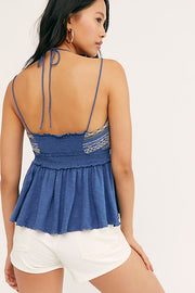 FREE PEOPLE: WELL TRAVELED HALTER TOP