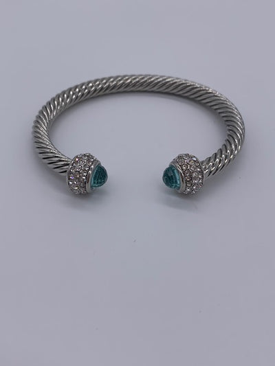 TWISTED CABLE BRACELET - BLUE