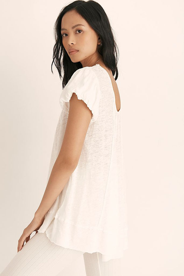 FREE PEOPLE:  WE THE FREE STAR TEE - WHITE