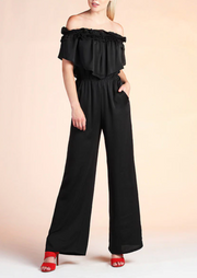 UPTOWN RUFFLE JUMPSUIT