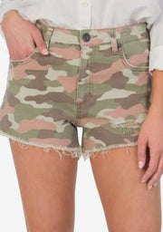 KUT from the KLOTH:  JANE CAMO HIGH RISE SHORT