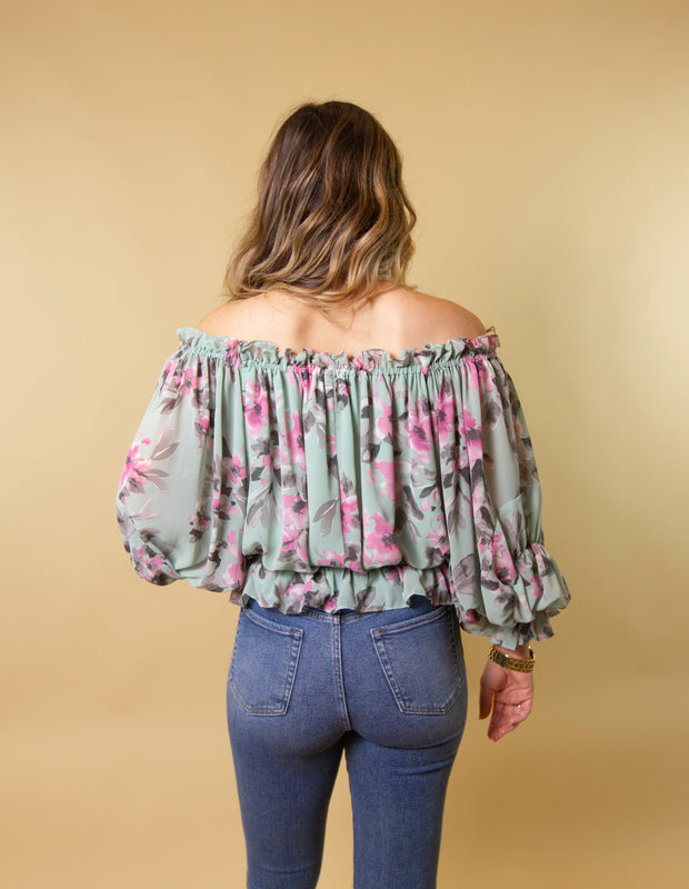 ROMANCE IN BLOOM BLOUSE