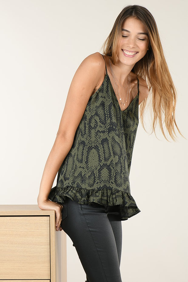 SLITHER ON OVER OLIVE CAMI