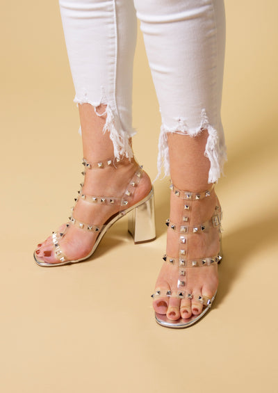 V.I.PLEASE STUDDED HEELS