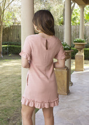 ALL ABOUT LOVE BLUSH POCKET DRESS