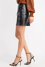 ITS YOUR MOMENT FAUX LEATHER SKIRT