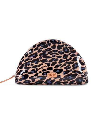 CONSUELA:  BLUE JAG LARGE COSMETIC BAG