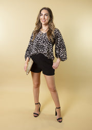 STEALING MOMENTS LEOPARD BLOUSE