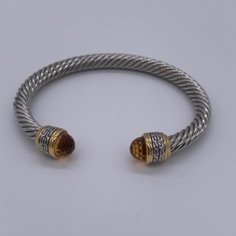 TWISTED CABLE BRACLET - AMBER