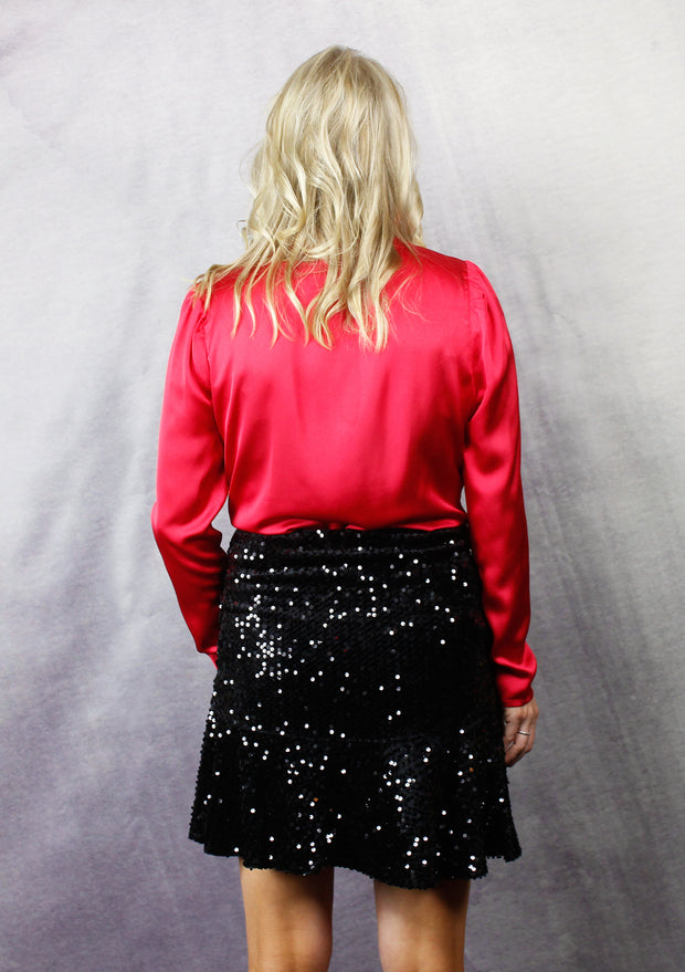 AT THE AFTER PARTY SEQUIN RUFFLE SKIRT