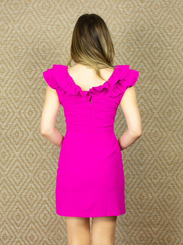 SEASON OF FUN MAGENTA DRESS