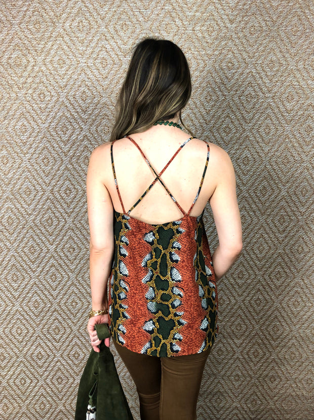 CHARMED CROSS BACK TANK