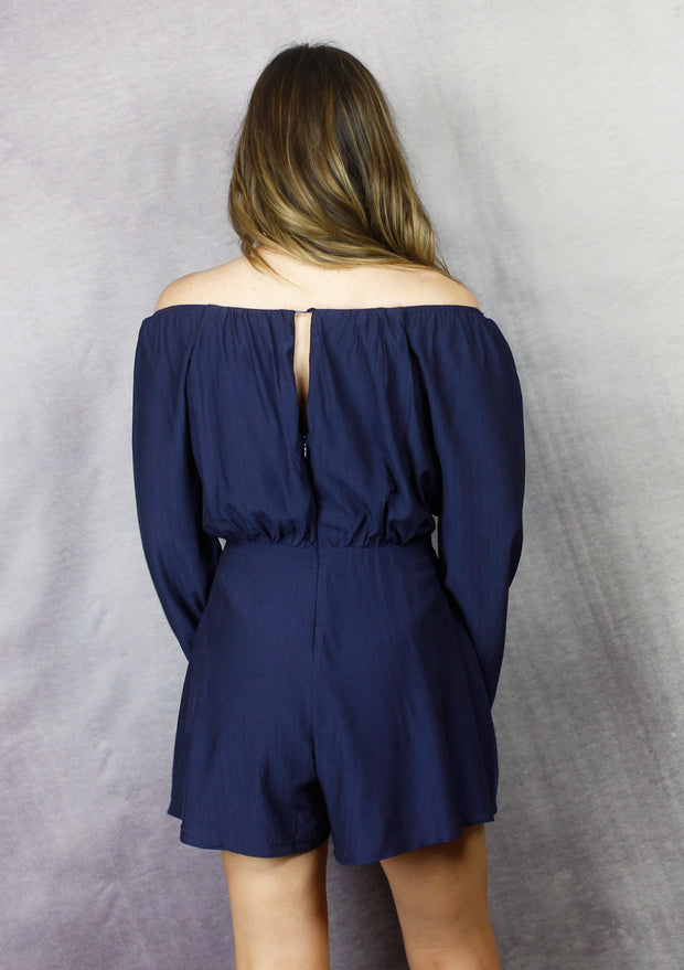 ROMANTIC MOVES ROMPER - NAVY