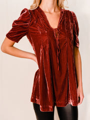FREE PEOPLE: ADELLE VELVET TUNIC
