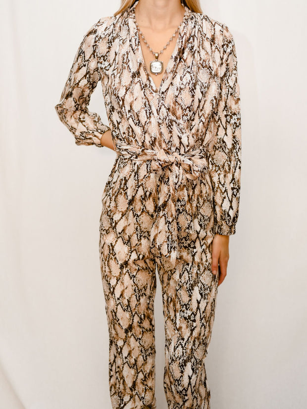 THE ANGELINA SNAKE PRINT JUMPSUIT