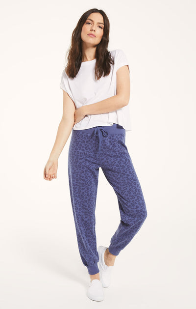 Z SUPPLY: AVA LEO JOGGER - VINTAGE BLUE
