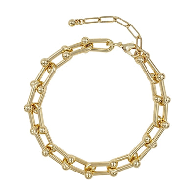 LAYER ME CHAIN TOGGLE BRACELET - GOLD & SILVER