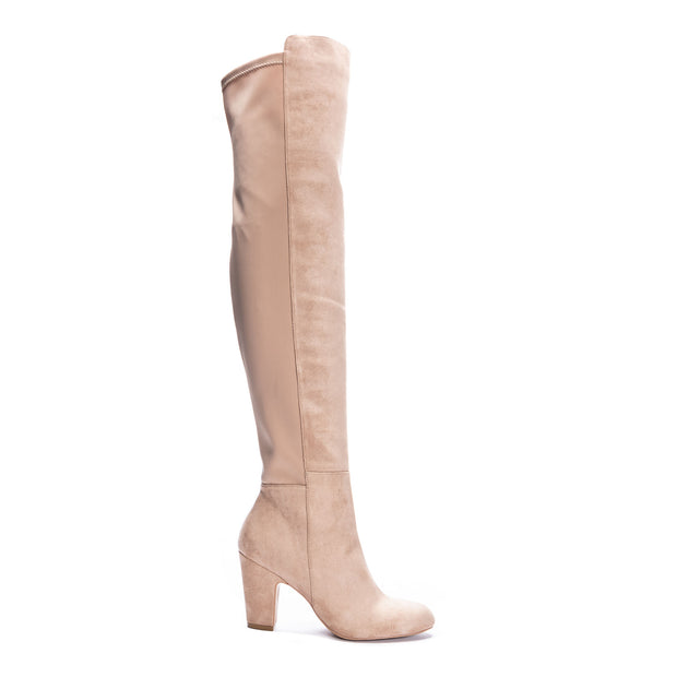 CHINESE LAUNDRY: CANYONS FAUX SUEDE OVER THE KNEE BOOT - TAUPE