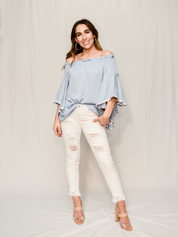 THE CHARLOTTE TASSEL TOP