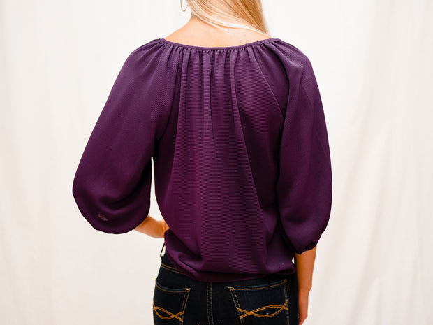 DAY AND NIGHT FRONT TIE BLOUSE